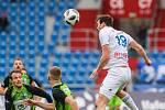 Utkání 25. kola první fotbalové ligy: FC Baník Ostrava - FK Mladá Boleslav, 16. března 2019 v Ostravě. Na snímku (vpravo) Jakub Šašinka.