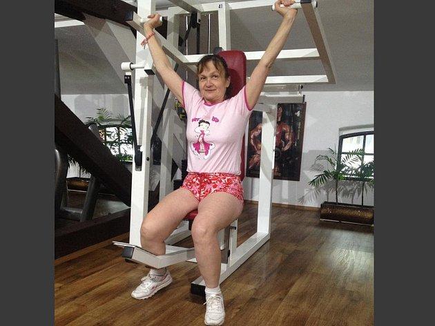 Tamara se do cvičení pustila skutečně s vervou.