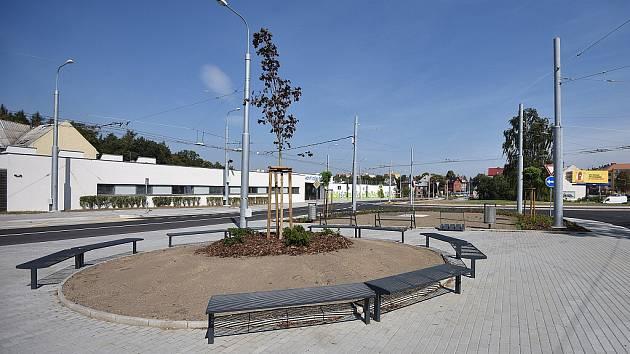 Skončila výstavba první etapy přestupního terminálu Hulváky.
