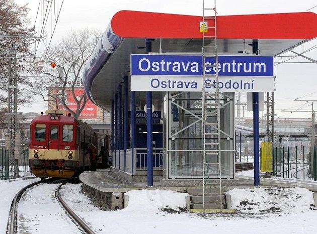 Vlaková zastávka Ostrava-Stodolní