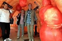 V maketě tlustého střeva v ostravském Avionu si lidé mohou prohlédnout nebezpečné polypy, které mohou způsobovat rakovinu.