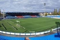 Fotbalový stadion Bazaly v Ostravě