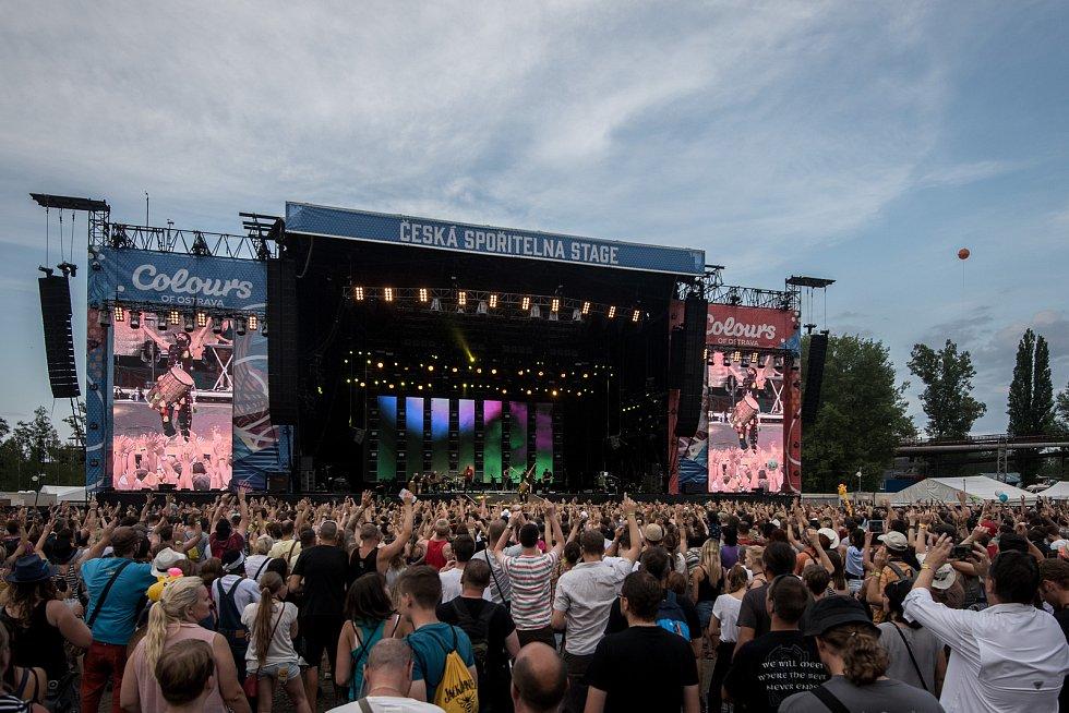 Hudební festival Colours of Ostrava, sobota 22. července 2017. Kapela Afro Celt Sound System.