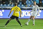 Utkání 15. kola první fotbalové ligy: FC Baník Ostrava - MFK Karviná, 25. listopadu 2017 v Ostravě. (vlevo) Jan Hošek a Breda Petr.