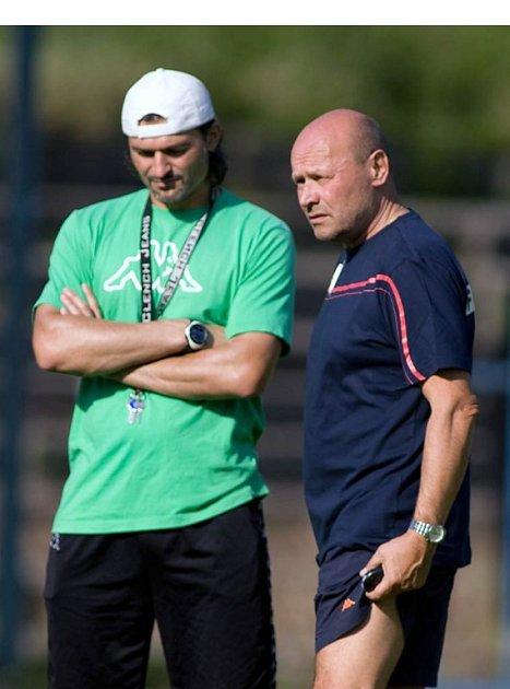 Trenér Baníku Ostrava Miroslav Koubek