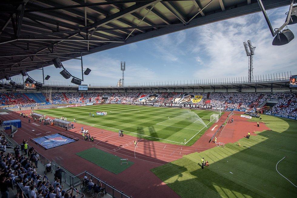 Utkání 26. kola první fotbalové ligy: Baník Ostrava - Sparta Praha, 28. dubna 2018 v Ostravě. Choreo.