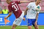 Ladislav Krejčí ze Sparty a Roman Potočný z Ostravy - FORTUNA:LIGA - Skupina o titul - 2. kolo, AC Sparta Praha - FC Baník Ostrava, 23. června 2020 v Praze.