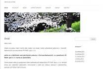 Úvodní strana webu paleniceradvanice.cz