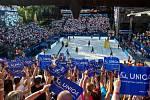 Finále muži: ČR - Norsko. FIVB Světové série v plážovém volejbalu J&T Banka Ostrava Beach Open, 2. června 2019 v Ostravě. Na snímku fanoušci.