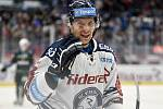 Utkání 51. kola hokejové extraligy: HC Vítkovice Ridera - HC Energie Karlovy Vary, 3. března 2020 v Ostravě. Jan Hruška z Vítkovic.