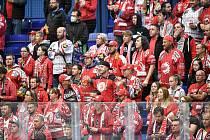 Utkání 8. kola hokejové extraligy: HC Vítkovice Ridera - HC Oceláři Třinec, 20. října 2021 V Ostravě. Fanoušci.