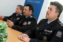 Ilustrační snímek z tiskové konference Policie ČR v Ostravě.