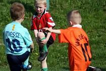 Trénink malých fotbalistů Stará Bělá
