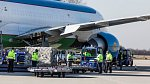 Ve středu ráno (25. března 2020) přistálo na letišti v Mošnově první ze série letadel se zdravotnickým materiálem.