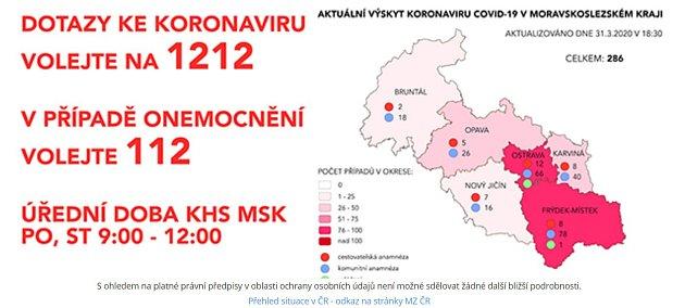 Mapa KHS, 31.března, podvečer.