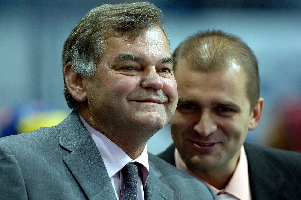 Miloš Holaň s legendárním trenérem Vladimírem Vůjtkem.
