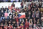 Mistrovství světa hokejistů do 20 let, skupina B: ČR - Rusko, 26. prosince 2019 v Ostravě. Na snímku fanoušci.