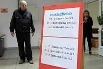Sociální centrum DIAMO na Dole Jeremenko posílá žadatele o státní příspěvek k jednotlivým referentkám podle jejich příjmení.