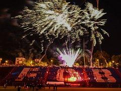 Fanoušci Baníku se v pátek 8. září večer sešli na Kamenci, aby oslavili 95. výročí svého klubu.