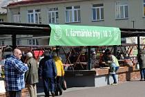 První farmářské trhy na náměstí SNP v Ostravě-Zábřehu - březen 2016.
