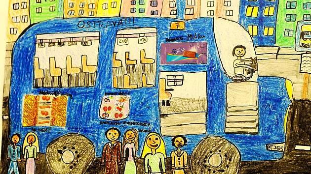 Jedeme na výlet městskou hromadnou dopravou. Takové bylo téma výtvarné soutěže pro děti, do které zaslalo své obrázky bezmála šest set školáků či předškoláků.