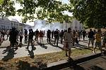 Policie v Ostravě dohlížela hned na několik demonstrací najednou.