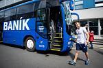 Odjezd hráču Baníku Ostrava do Olomouce, 21. května 2019 v Ostravě.