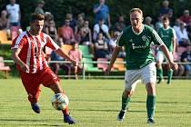 Fotbalový zápas (MSD-F) FC Heřmanice Slezská z.s. - Městský fotbalový klub Vítkovice a. s., 7. srpna 2020 v Ostravě.