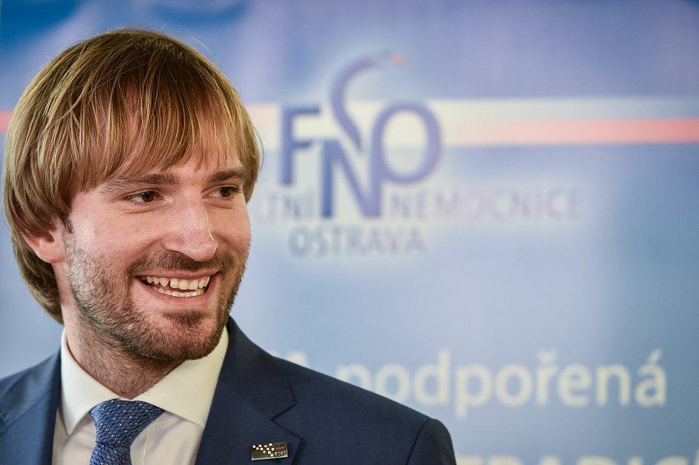 Tisková konference ve Fakultní nemocnici Ostrava (FNO), na snímku (ministr zdravotnictví) Adam Vojtěch.