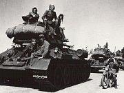1. československá samostatná tanková brigáda postupovala od Hrabyně, jež je na významném strategickém kopci a byla největší překážkou postupu na Ostravu, do velké Polomi.