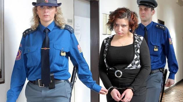 Lucie Žigová u ostravského krajského soudu
