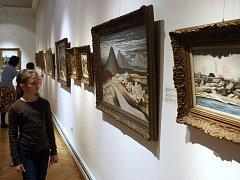 Výstava obrazů Jana Zrzavého v ostravském Domě umění.