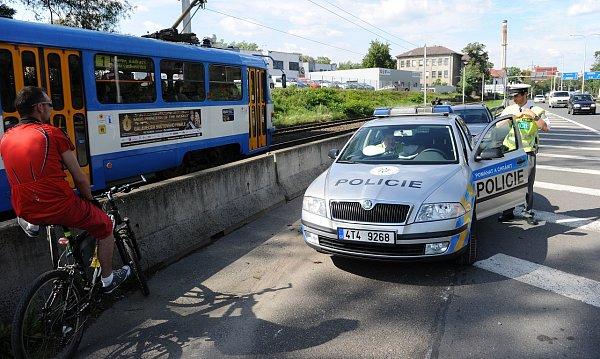 Dopravně bezpečnostní akce probíhá na mnoha místech vOstravě.