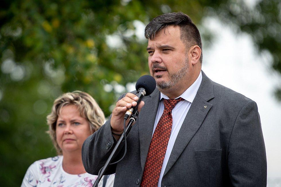 Nově otevřené dopravní hřiště 6. zaří 2019 v Ostravě. Na snímku starosta Svinova Radim Smetana.