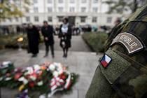 Vzpomínkový akt v Husově sadu u příležitosti 99. výročí vzniku Československé republiky, 28. října 2017 v Ostravě.