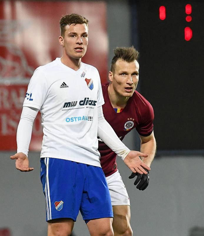Ondřej Šašinka - Čtvrtfinále MOL Cup AC Sparta Praha - FC Baník Ostrava, Generali Česká pojišťovna Aréna, Praha, 4. března 2020.
