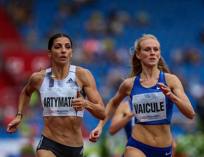 Atletický mítink IAAF World Challenge Zlatá tretra v Ostravě 20. června 2019. Na snímku  Gunta Vaicule z (LAT).