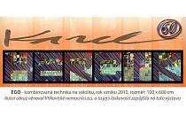 Část pozvánky na výstavu obrazů akademického malíře Karola Hercíka k jeho šedesátinám.