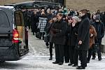 Pohřeb Pavla Srnička v Bohumíně.