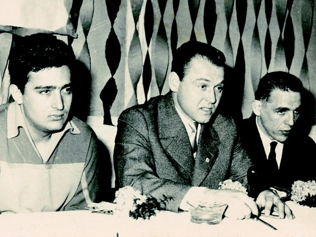 Jan Kasper,  Miroslav Vlach a Josef Mikoláš na archivním snímku