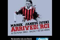 Benefice Marka Jankulovského se uskuteční v sobotu 8. června 2013 na Bazalech.