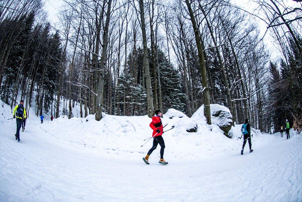 Zimní extrémní závod LH24 (Lysá hora 24 hodin), leden 2019. Ilustrační foto.