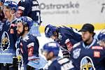 43. kolo hokejové extraligy mezi HC Vítkovice Ridera - HC Rytíři Kladno v Ostravě dne 2. února 2020. Na snímku (střed) Jaromír Jágr z Kladna.