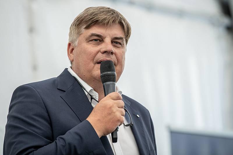 Slavnostní ceremoniál k začlenění Ekova Electric do skupiny Škoda Transportation, 9. srpna 2021 v Ostravě. Prezident, předseda představenstva Petr Brzezina.