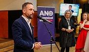 Volební štáb ANO v Ostravě. Na fotografii Tomáš Macura