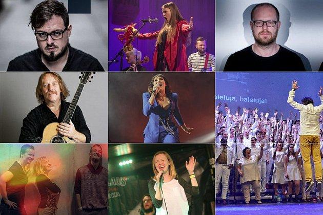 Nominovaní v kategoriích Interpret roku, Interpretka roku, Kapela roku, Píseň roku.