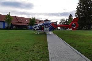 Vrtulník ZZS Moravskoslezského kraje.