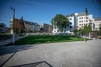 Rekonstrukce Farské zahrady v Ostravě, říjen 2020.