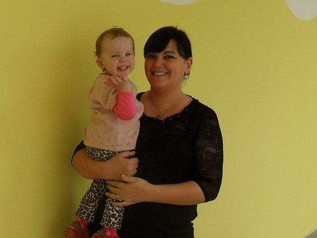 Emilka s maminkou