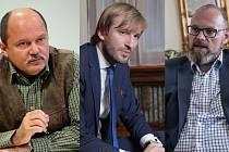 Ministři (zleva) Jiří Mílek, Adam Vojtěch a Robert Plaga.